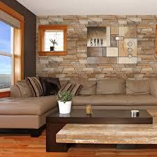 Instalando tv em parede com aplicação de pedra canjiquinha. Papel De Parede Pedra Canjiquinha Marrom Stickdecor