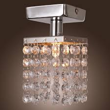 lamp light in the box mini semi flush mount in crystal with modern home ceiling