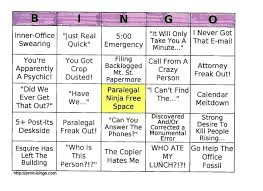 Office Bingo Games That Fun Paralegals Play The Paralegal Society