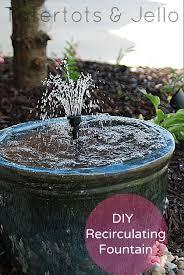 make a diy recirculating fountain for