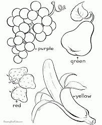 Educational Coloring Pages For Preschool Fruit Coloring Page To