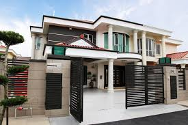 Modern Semi Detached House Design Semi Detached House Exterior Design Malaysia Front House