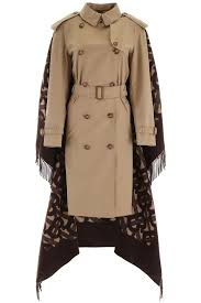 Burberry Sizing Charts Trench Coats Burberry Trench Coat With Monogram Cape 4560589 Honey