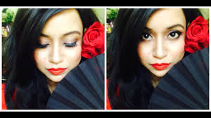 spanish flamenco dancer makeup look indian beauty