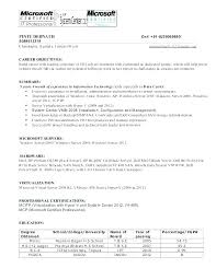 Sample Resume For System Administrator Best of Sample Resume System Administrator Windows System Administrator