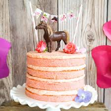 Horse Birthday Party Mini Cake Bunting Pony Party Cake Sunshine