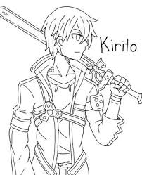 anime characters with swords drawing. Modren Swords Line Art Done Kirito XD For Anime Characters With Swords Drawing PaigeeWorld