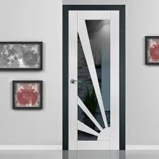 Calypso Aurora White Primed Door with Clear Safety Glass | Safety ...