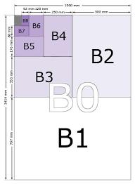 B Paper Sizes B0 B1 B2 B3 B4 B5 B6 B7 B8 B9 B10
