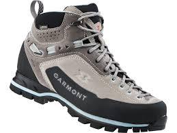 Garmont Vetta Gtx Mid Cut Shoes Women Warm Grey Light Blue