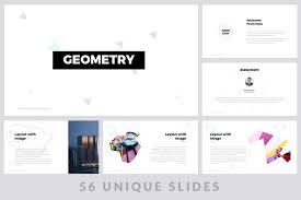 Geometric Powerpoint Template By Zaas Thehungryjpeg Com