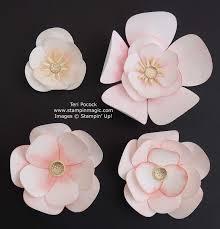 Paper Flower Video Stampin Up Uk Demonstrator Teri Pocock Beautiful