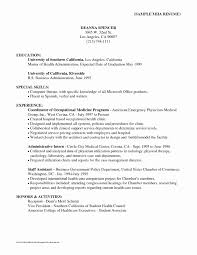 Occupational Therapy Resume Examples Inspirational Example