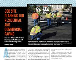 What Is The Best Job Site Residential Paving How To Job Site Planning Asphaltpro