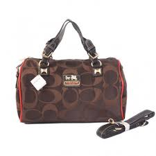 Coach In Signature Medium Coffee Luggage Bags AYG