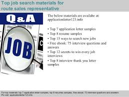5 top job search materials for route sales route sales