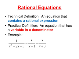 1 rational equations