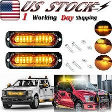 Led Warning Lights For Trucks Details About 2x 10 Led Amber Flash Truck Trailer Emergency Beacon Strobe Warning Light 12 24v