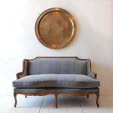 french modernu003ea vintage settee gets a handsome finish with rich velvet tailoringu003eat nickey kehoe modern couch o34 vintage