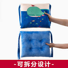 cartoon siamese cushion cushion back one office chair pad thicken student seat dining chair stool mat