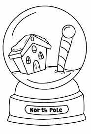 Small Picture Snow Globe Coloring Page In glumme