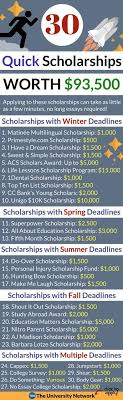 best college images colleges college hacks  most of these scholarships will only take a few minutes to apply to some just