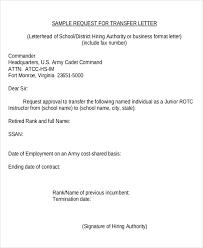 9 Sample Transfer Request Letters Pdf Word Apple Pages