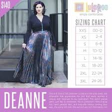 By The Way Clothing Size Chart Lularoe Deanne Dress Sizing Chart Lularoe Sizing