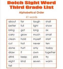 3rd Grade Sight Words Dolch Third Grade Dolch Sight Words Sight Word Lists Flashcards