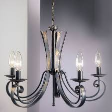 enchanting black candle chandelier wrought iron candle chandelier four arms light hinging antique