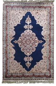 Navyas Fashion PURE SILK BLUE HANDMADE RUGS FROM INDIA SUPPLIER