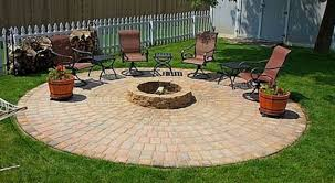 round paver patio fire pit is an easy diy the whoot