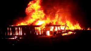 Image - A fire outbreak scene