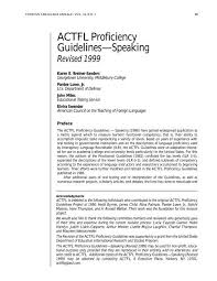 Actfl Proficiency Guidelines Seasite