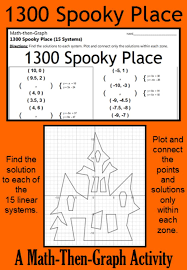 1300 y place a math then graph activity solve 15 systems