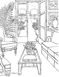Living Room Coloring Coloring Pages For Adults Some Drawings Of Living Rooms For
