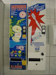 Bathroom Vending Machines New Condom Vending Machine At Flesland Bergen Norway Airport Bathroom