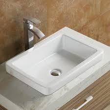 bathroom modern sinks. Fine Modern Ceramic Rectangular DropIn Bathroom Sink In Modern Sinks