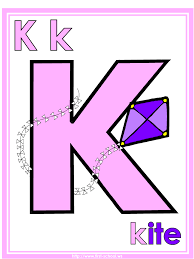 Small Picture Letter K Kite theme lesson plan printable activities poster
