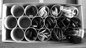 computer cable storage -desk - Google Search