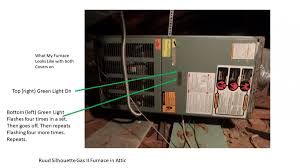 Carrier Furnace Blinking Yellow Light Gas Furnace 1 Green Light On Other 4 Flashes Hvac Diy