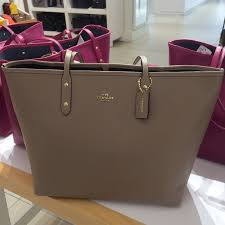 Coach Large City Tote Beige