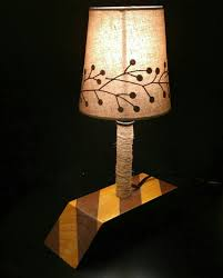 Another Of My Diy Table Lamps Wooden Base Steel Pipe And A Basic