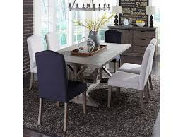 liberty furniture dining table. Liberty Furniture Carolina Lakes 7 Piece Trestle Table Set With Parson\u0027s Chairs Dining O