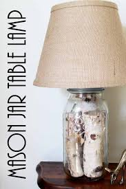 mason jar table lamp you can make your own version in just minutes