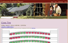 The Venue Athens Ohio Seating Chart Coshocton Footlight Players Event Registration And
