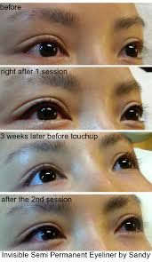 process of semi permanent eyeliner