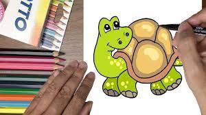 Dạy bé tập vẽ con rùa - YouTube