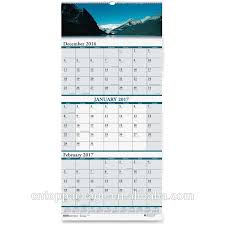 Wholesale Custom 3 Months Wall Hanging Calendar Printing 2018 2019 Buy 3 Months Calendar 3 Months Wall Calendar 3 Months Calendar Printing Product