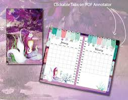 Grid Paper Pdf Digital Planner For Pdf Annotator Apps Purple Mermaid Jotting